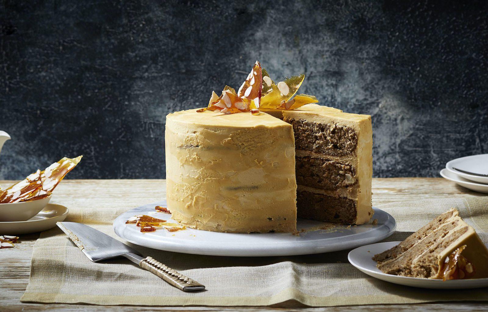 Apple Salted Caramel Cake