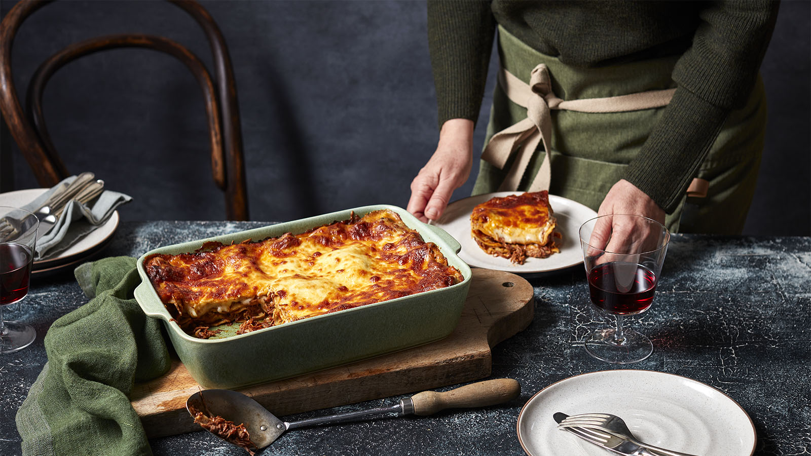 slow cooked beef lasagne